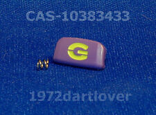 Genuine Factory CASIO G-Shock Back Light Button Purple with Green Print DW-6900