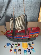 Playmobil Pirate Ship 3940 Big Pirate Flagship 2000 Lot With Extras