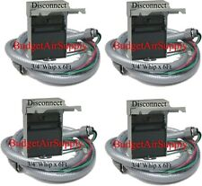 "Lot of 4each -Non Fused 60 amp Electric A/C Disconnect Box+ 3/4""x 6ft Whip+Wire"