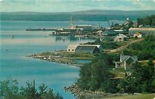 Pictou Nova Scotia~Pictou Water Front~View from Golf Course~1950s Postcard