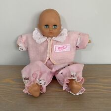 Vintage Zapf Balica Doll With Open Close Closing Blue Eyes Pink Clothing
