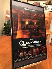 "BIG 11X17 FRAMED ORIGINAL ""QUADRADIAL"" MIAMI FLORIDA RECORDING STUDIO PROMO AD"