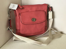 NEW! COACH PARK LEATHER POCKET SWINGPACK CROSSBODY SLING BAG $168 TEAROSE SALE