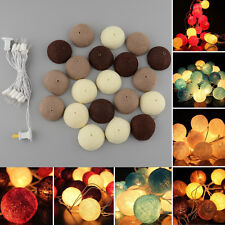 20 COTTON BALL FAIRY STRING LIGHTS LAMP 3M FOR PARTY CHRISTMAS DECOR 220V
