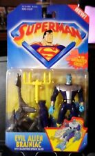 "Superman's Evil Alien Brainiac 5"" Action Figure w/Blasting Space Sled-1996-New"