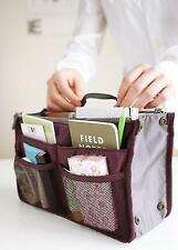 Dual In Bag Inner Handbag Tote Insert Purse Travel Storage Organizer Pouch Y