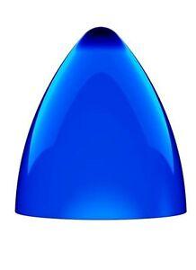Lampenschirm Hängelampe 24cm Lampe Design Hängeleuchte blau Acryl PVC Rund