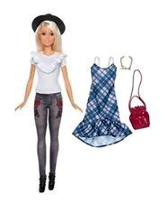 Barbie Fashionistas #83 Denim Floral Doll, Original HAT JEANS SHOES CLOTHES