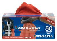 Grab-A-Rag Reusable Detail Microfiber Rags 50 Count Shop Cleaning Grease RED