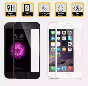 100% 3D Full Cover Curved Tempered Glass Screen Protector  iPhone 7  BLACK