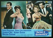 CINEMA-fotobusta TORNA A SETTEMBRE hudson, lollobrigida, dee, darin, MULLIGAN