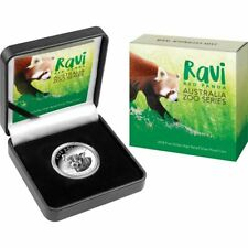 2018 Ravi The Red Panda High Relief $5 1 Oz Proof Silver Coin with Box and COA