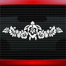 "24"" Hibiscus #1 Turtle Hawaiian Flower Cute Car Decal Window Sticker 20 COLORS!"