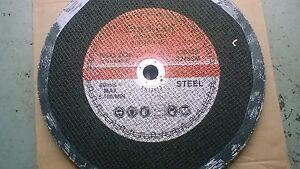 "Euro Cut 12"" 300mm x 20mm Bore Flat Metal Cutting Discs Pack of 25 DATECODE 2023"