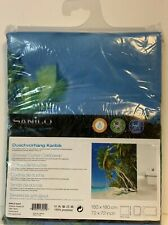 Sanilo Caribbean Shower Curtain with rings Nautical Coastal New beach palm tree