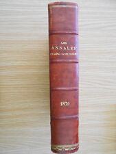 Les annales Franc-Comtoises revue religieuse historique et littéraire 1870 relié