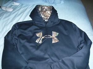 Men's UNDER ARMOUR golf polo hoodie athletic workout gym shirt CamoFlauge Camo