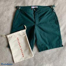 New ORLEBAR BROWN Dane Sherwood Dark Green Leisure Shorts Size 32 Waist