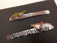OEM Harley Vintage V-Logo Gas Fuel Tank Emblems Badges Touring Softail Dyna Spor