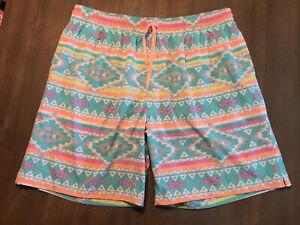 "Chubbies Mens Swim Trunks XLarge Lined Shorts drawstring Pockets 7.5"" Inseam EUC"