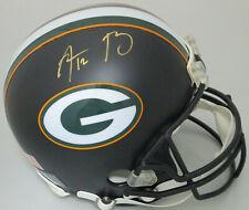 Packers AARON RODGERS Signed Full Size Custom BALCK Replica Helmet AUTO