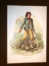 La riffa dei polli Usi e costumi di Napoli Francesco de Bourcard Anastatica