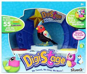 Silverlit DigiBirds Digistage Electronic Interactive 55 Songs w/one Bird New