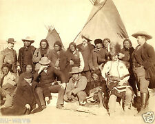 Photo Indian chiefs- Lakota- U.S. officials at Pine Ridge, South Dakota - 1891