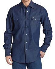New Wrangler Authentic Cowboy Cut Work Western Long-Sleeve Shirt Men's Sizes