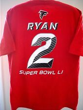 MATT RYAN ATLANTA FALCONS NAME/NUMBER YOUTH X-LARGE 18 SHIRT W/ SUPER BOWL LOGO