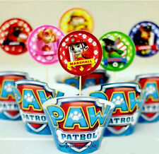 PAW PATROL cupcake wrappers and toppers - Pack of 12  **AU SELLER!