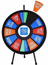 """31"""" Insert Your Own Graphics Prize Wheel with 12-24 Slots on a table stand!"""