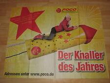 Poster Daniela Katzenberger Katze Plakat Poco 2015 Rot Rakete Werbung Stern