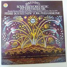 LP HANDEL Royal Fireworks Music, Pierre Boulez, New York Philharmonic, 76834