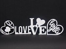 Love themed die cuts (white card) ideal for card toppers,papercraft,scrapbooking