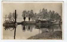 More details for the norfolk floods, 1915: norfolk postcard with steam engine (c61038)