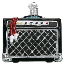 """Guitar Amp"" (38047)X Old World Christmas Glass Ornament w/ OWC Box"
