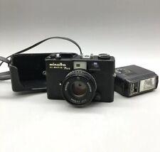 Minolta Hi-Matic 7sii Black Rangefinder 35mm Camera Rokkor 40mm 1.7 - H03