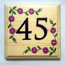 House Number Plaque / Sign / Gift - Home Hotel Door Room Garden Flower Border