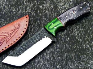 Elegant Custom hand Forged Railroad Spike Carbon Steel Fixed Blade Knife WD-8590