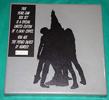 Pearl Jam - S/T GERMANY SEALED PVC BOXSET 1993 5 CDS T-SHIRT + BONUS 1000 ONLY