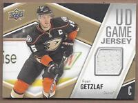 2011-12 Upper Deck hockey card jersey Ryan Getzlaf, Anaheim Ducks