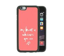 Cute Love Quote Pink iPhone 6 7 8 X XR Xs Max Samsung S7 S8 S9 Plus Phone Case