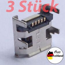 Ladebuchse *3 Stück* Micro USB Typ B Weibliche 5 Pin DIP Anschluss 4 Beine