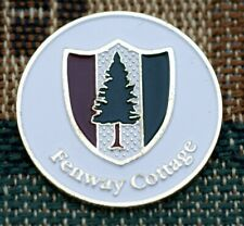 "Rare_ FENWAY COTTAGE  (Pine Valley, NJ)  1"" Gold Plated Golf Ball Marker"