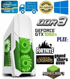 ULTRA FAST Gaming PC Intel Core i5 4440 8GB RAM 500GB  4GB GTX 1050Ti Windows 10