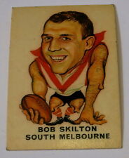 VINTAGE 1969 SUN VALLEY TWISTIES VFL FOOTBALL CARD BOB SKILTON - SOUTH MELBOURNE