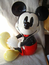 VTG Mickey Mouse Schmid Music Box Figurine Plays Mickey Mouse Club Song 501539