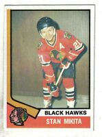 1974-75 Topps  Hockey Card #20  Stan Mikita Chicago Blackhawks ~  EX/MT