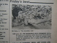 March-1978 Chicago Tribune TV Week(PREMIERE OF THE INCREDIBLE HULK/TED WASS/SOAP
